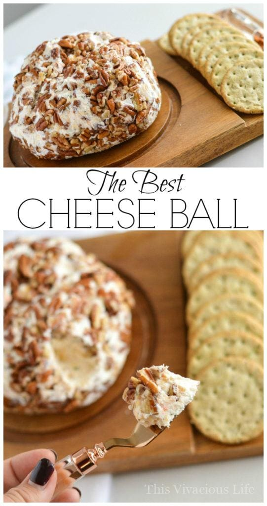Best Cheese Ball Recipe You Will Ever Make or Need | gluten free cheese ball | gluten free appetizer | party recipes | homemade cheese ball || This Vivacious Life #cheeseball #appetizer #glutenfree #recipe #partyappetizer