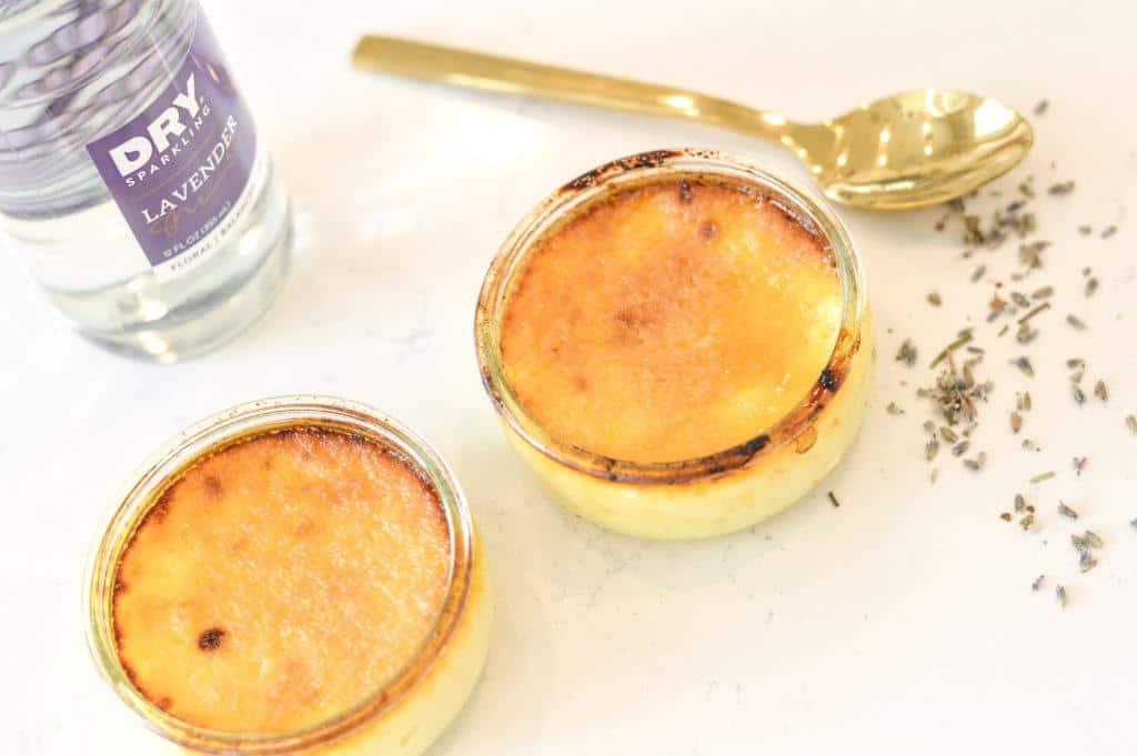 Instant Pot Lavender Creme Brûlée