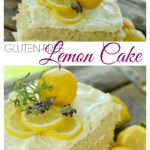 Yum, this gluten-free lemon cake is the BEST! This lemon, lavender & honey naked cake is perfect for your next spring gathering or spa party. It is full of fun ideas including a delicious lunch and dessert table. Spa favor baskets full of themed goodies and relaxing treatments are just a few of the other fun features you don't want to miss. #glutenfreecake