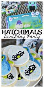 This Hatchimals birthday party is sure to put a smile on your little ones face. We've got the cutest cookies, hatchy birthday popcorn and even a themed cake. Plus, we couldn't forget hatchimals games and party favors.