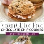 Vegan Gluten-Free Chocolate Chip Cookies pin