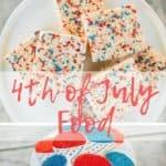 4th of July food, fruit salad and backyard bash