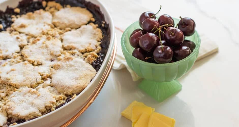 Gluten-Free Cherry Cobbler