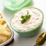 This sour cream chip dip is a classic snack that everyone will love. It is easy to make and is sure to be a crowd pleaser.
