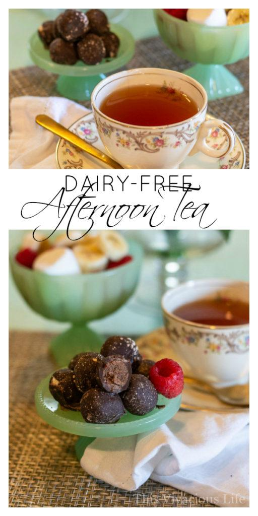 An easy dairy free afternoon tea that requires little effort to prepare is definitely something great! We've got plenty of yummy treat ideas for you to choose from to serve at your own gathering. || This Vivacious Life #dairyfree #tea #afternoontea #teaparty #thisvivaciouslife