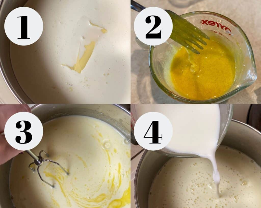 Step by step pudding instructions