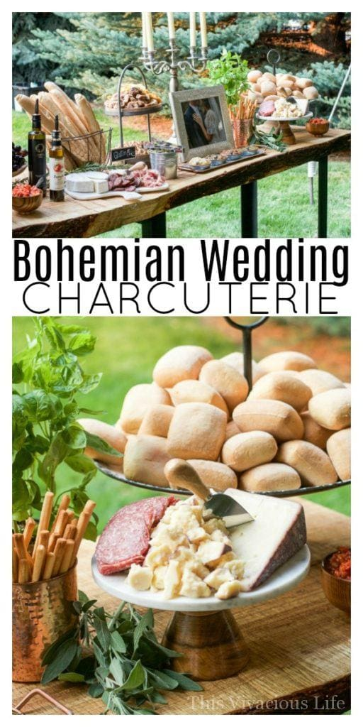 Bohemian Wedding Charcuterie: This gorgeous outdoor boho wedding is full of inspiration for any blushing bride! Cheese and charcuterie boards are SO in and perfect for the big night. | Bohemian Wedding Charcuterie: This gorgeous outdoor boho wedding is full of inspiration for any earthy blushing bride! || This Vivacious Life #wedding #bohemian #boho #bohemianwedding #bohowedding #thisvivaciouslife