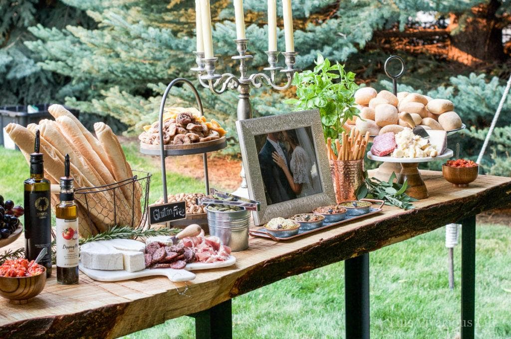 Bohemian Wedding Charcuterie: This gorgeous outdoor boho wedding is full of inspiration for any blushing bride! Cheese and charcuterie boards are SO in and perfect for the big night.