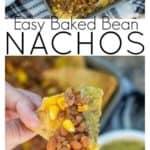 Pinterest image of sheet pan nachos