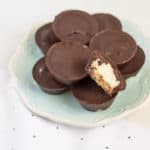 We are loving these dairy-free peppermint patties because they are so easy to make and everyone loves them! They are an easy holiday candy to make.