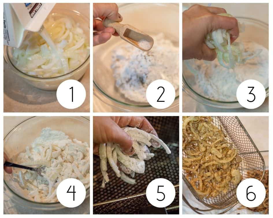 Step by step instructions for making homemade gluten-free fried onions