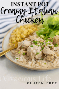 This Instant Pot creamy Italian chicken is bursting with delicious flavors that the whole family will love! This one pot meal is so simple to make and tastes great. My husband said it's his favorite meal.