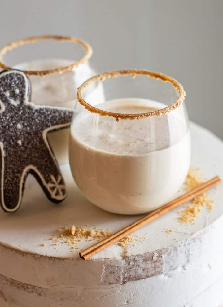 This gingerbread martini mocktail is especially festive for the holidays! It has all the flavor of your favorite Christmas cookies.