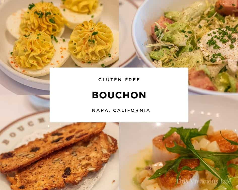 Photo collage of food from Bouchon
