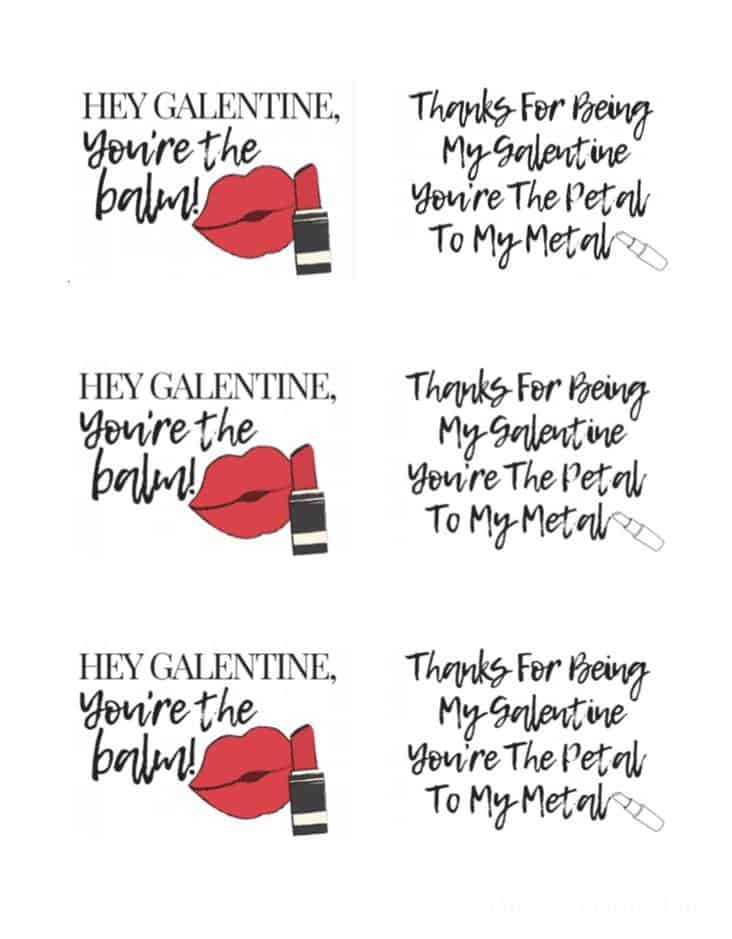 Printable for Galentine's Day