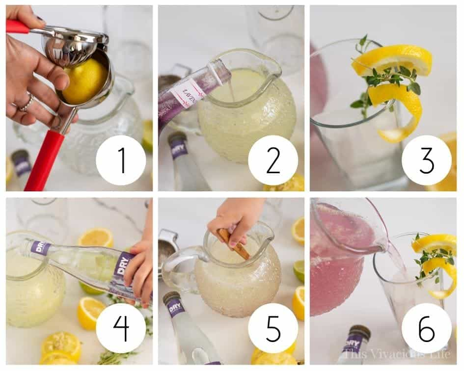 Step by Step Lavender Lemonade