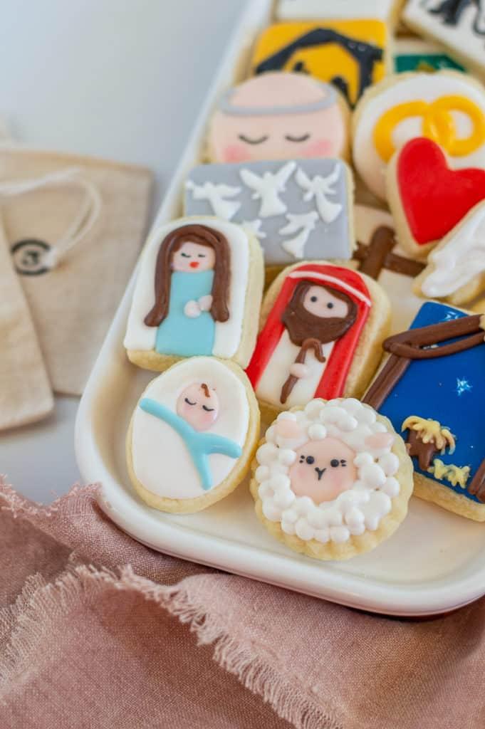 Nativity cookies sugar cookie advent