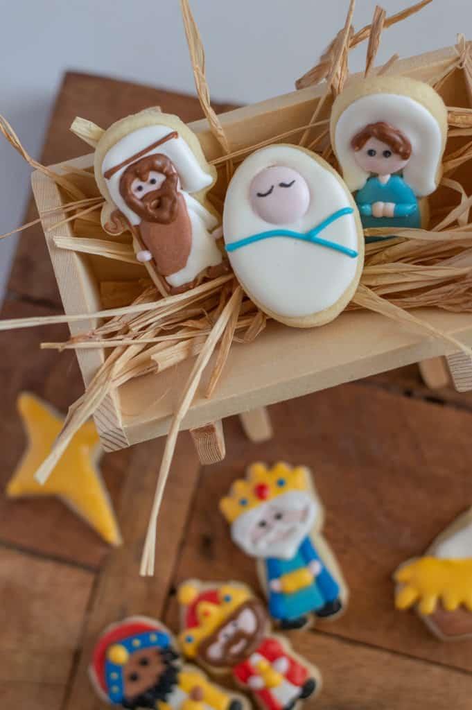 Nativity advent sugar cookies