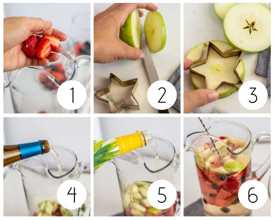 Step-by-step instructions for white wine sangria