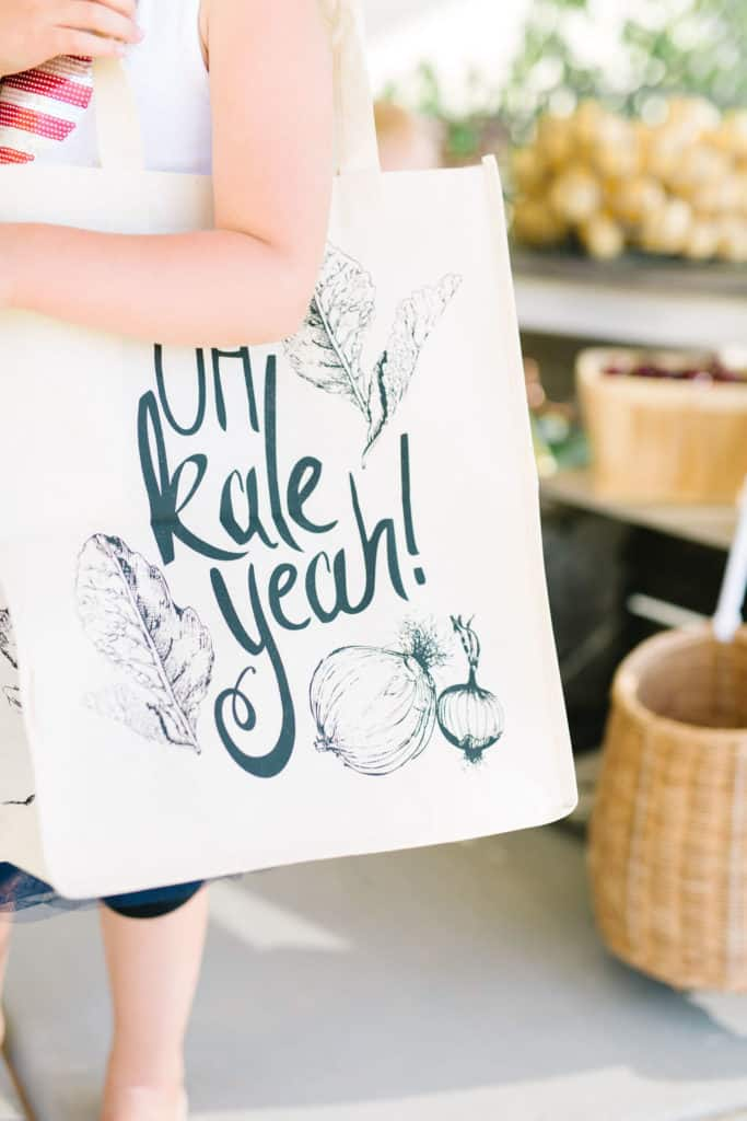 Oh kale yeah linen tote