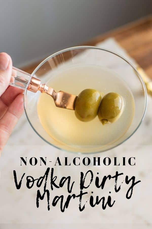 Non-Alcoholic Vodka Dirty Martini