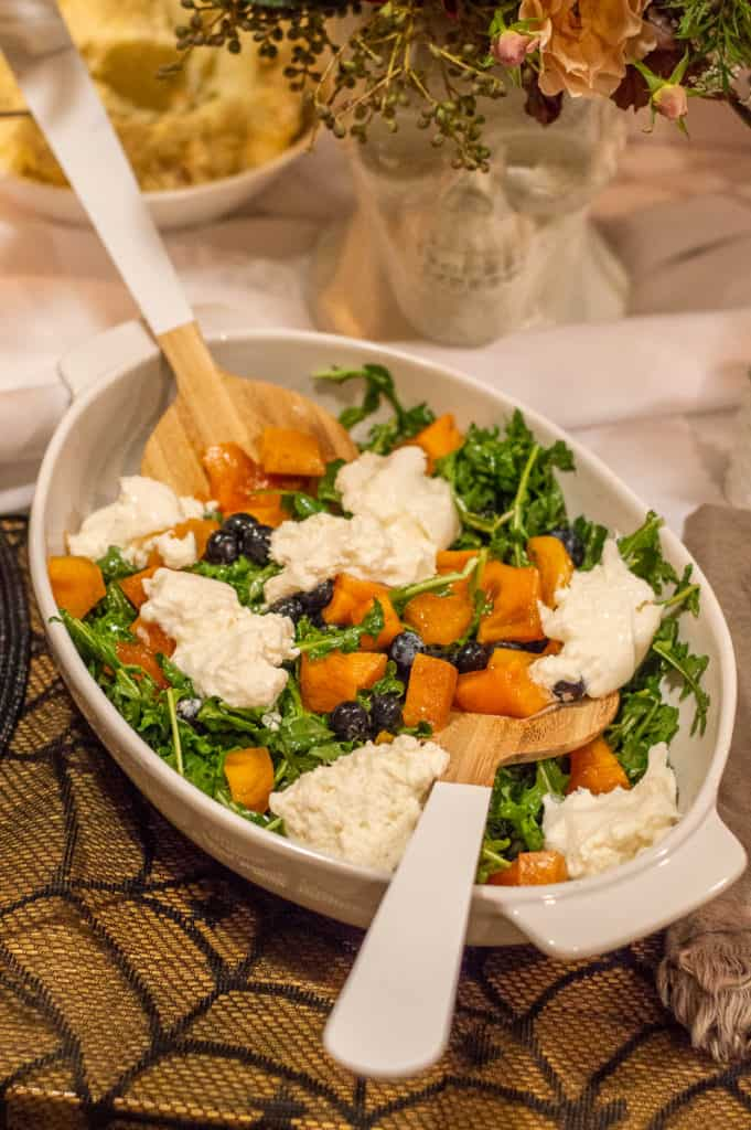 Arugula, persimmon and burrata salad