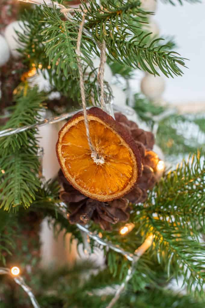 DIY orange slice christmas ornament