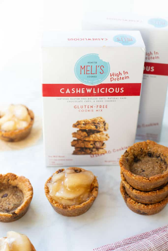 Gluten-free cookie cups with cookie mix