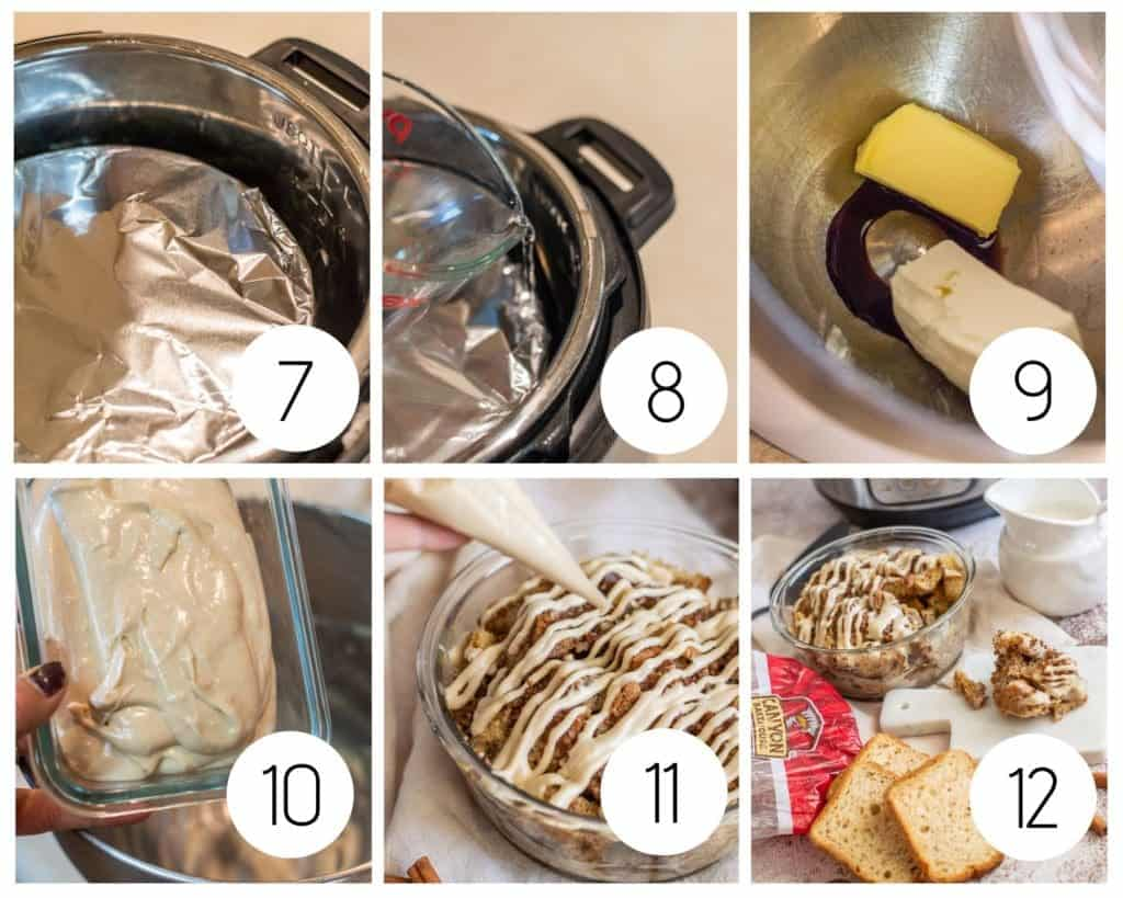 step by step cinnamon roll French toast casserole