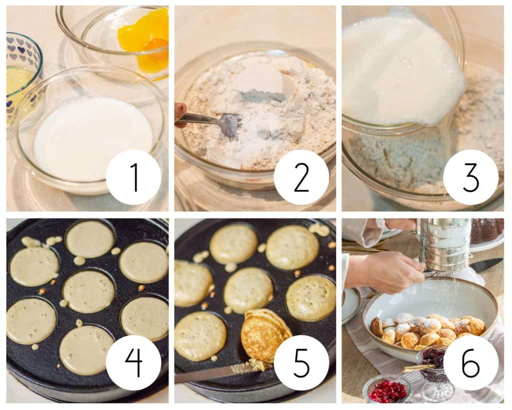 Step by step Ebelskiver recipe photos