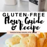 Gluten-free flour and recipe pin