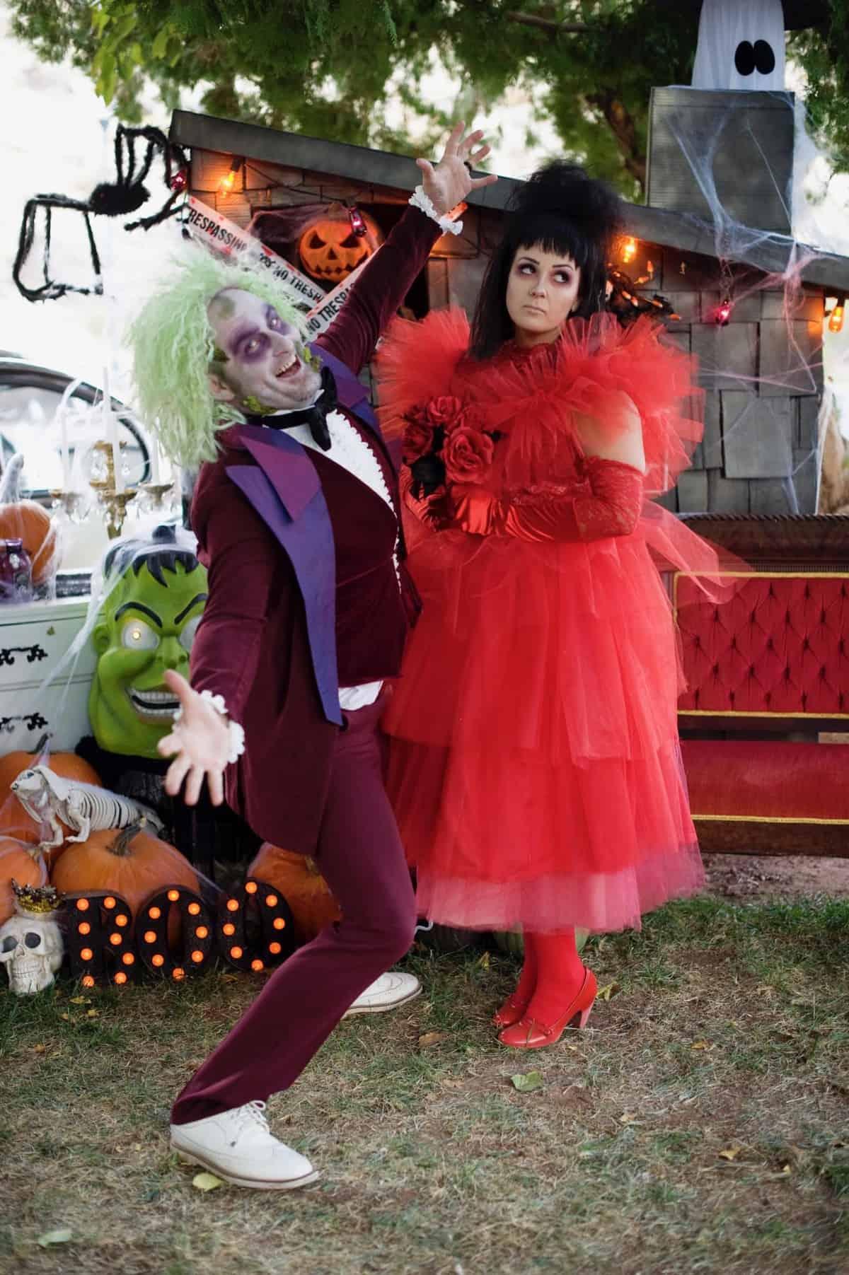Beetlejuice couples Halloween costume