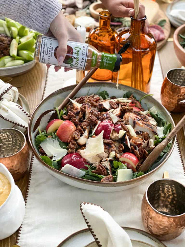Fall harvest salad with apples and pecans