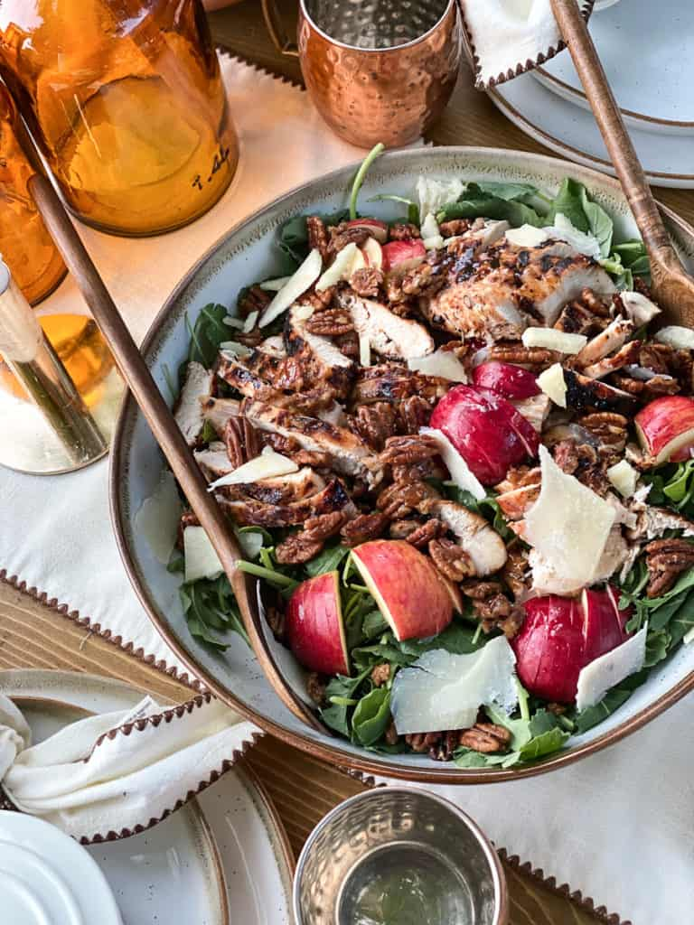 Fall harvest salad with candied pecans