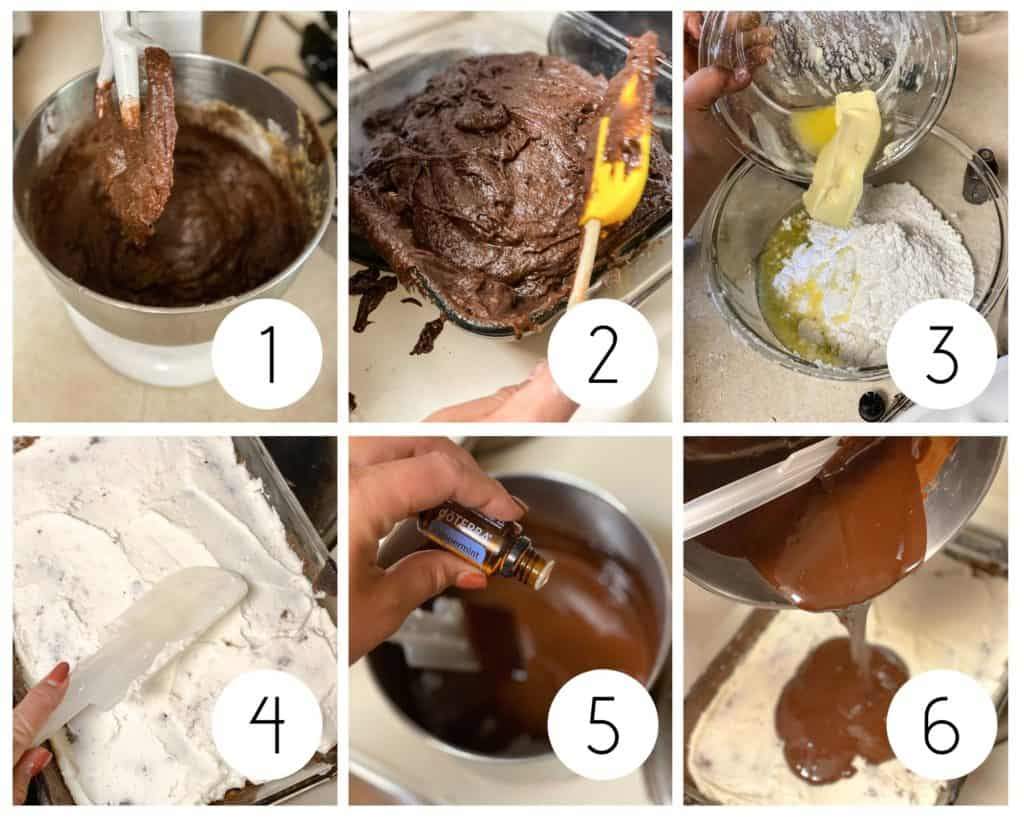 Step-by-step photos for making the BEST gluten-free brownie recipe