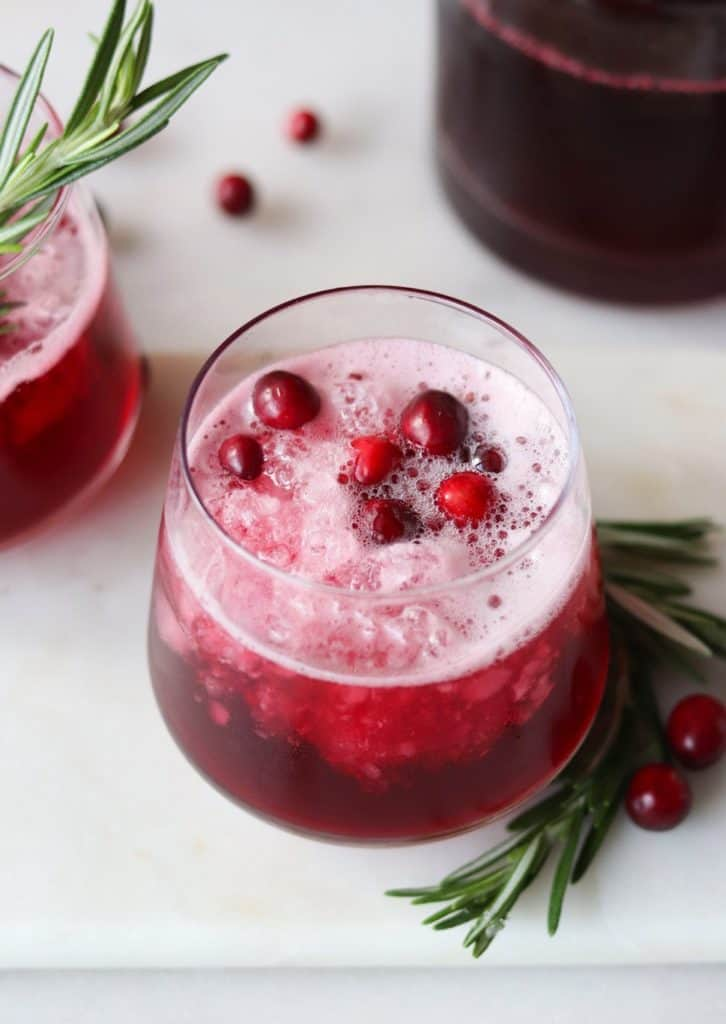 Cup of cranberry punch