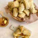 gluten-free sourdough crescent rolls in a bowl