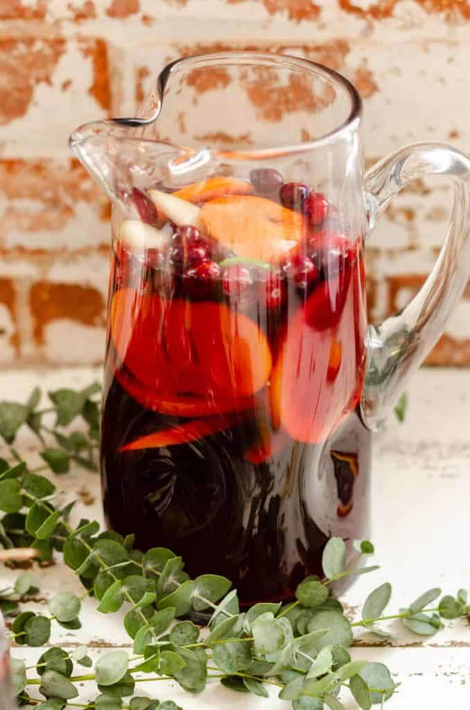 non-alcoholic Sangria Mocktail in a pitcher