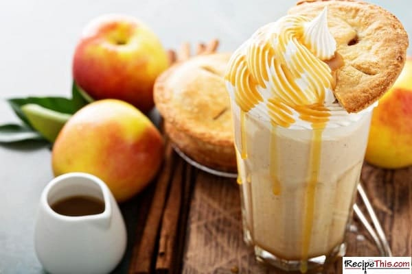 apple pie milkshake with pie near it