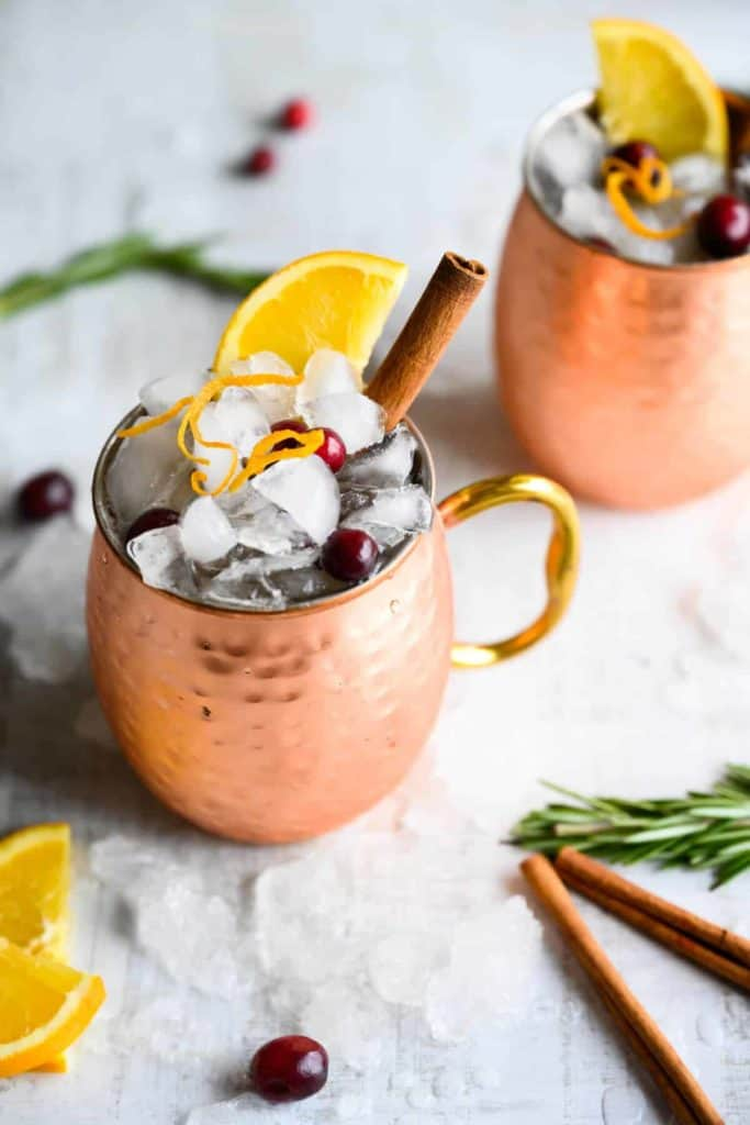 Mocktail in a copper mug