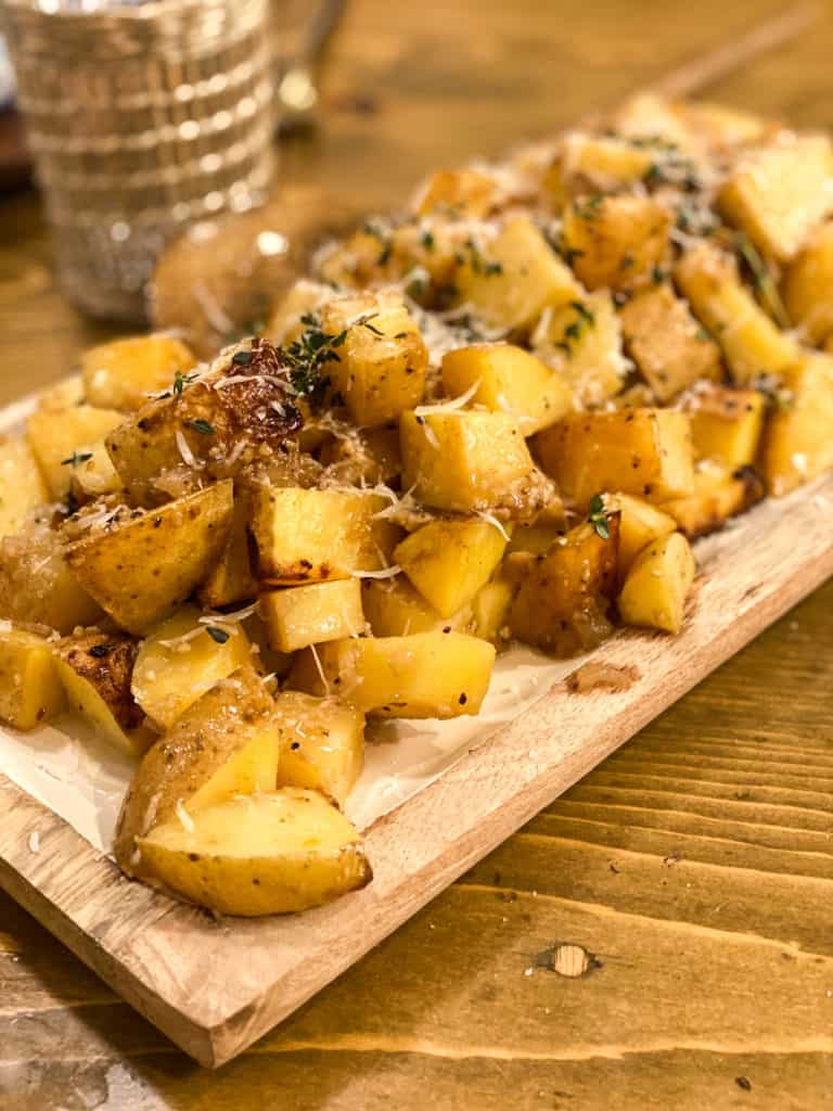 Roasted potatoes with balsamic