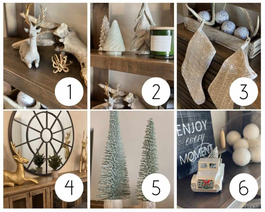 Fancy farmhouse holiday decor collage