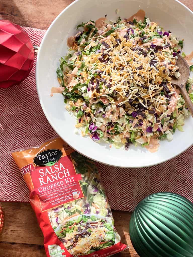 Salsa ranch salad kit and bowl