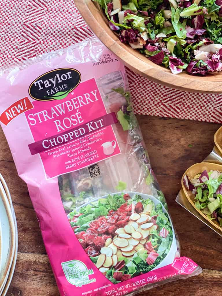 Strawberry salad kit