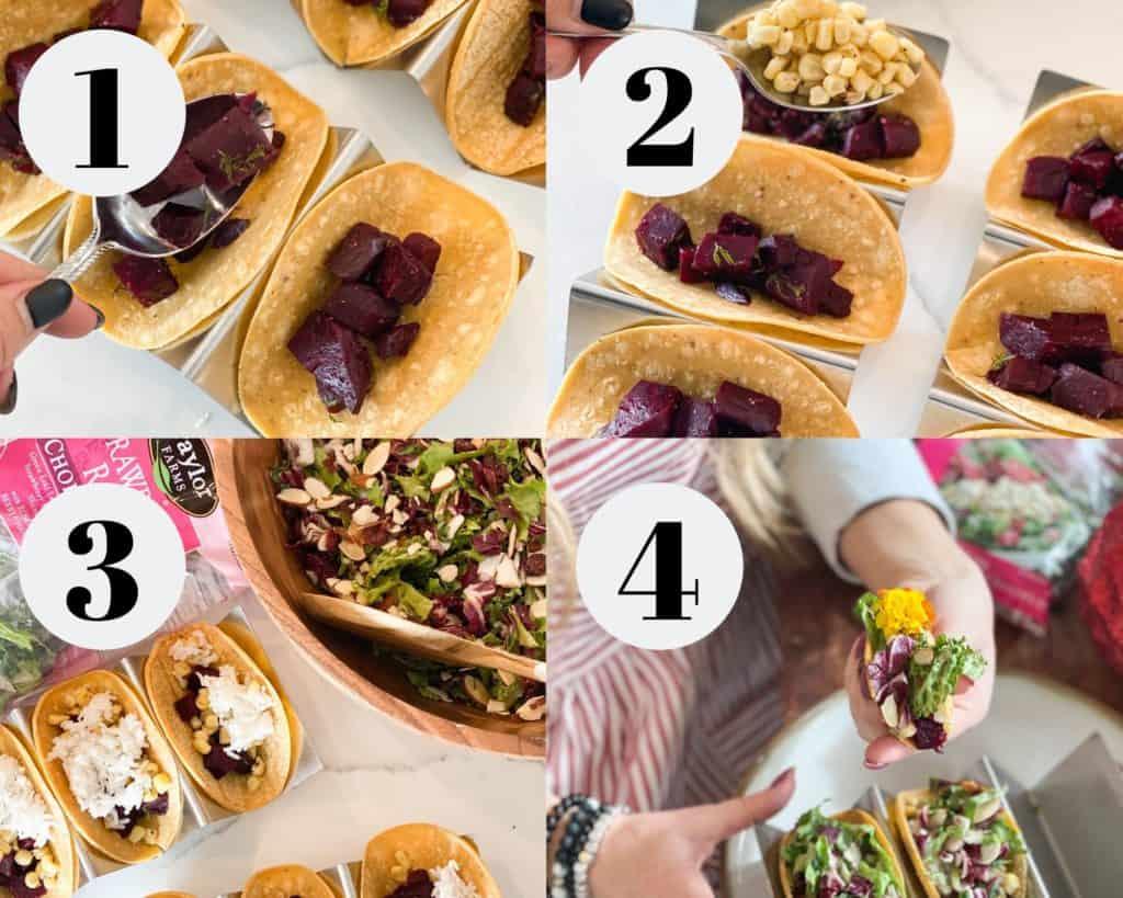 Vegetarian Beet Tacos step by step photos