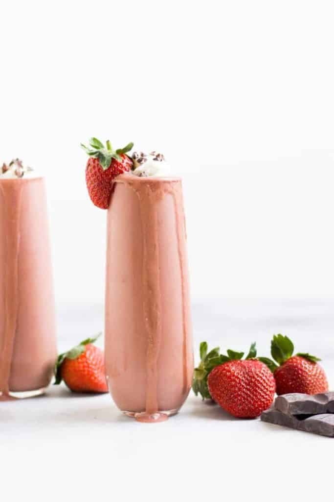 Valentines mocktails chocolate smoothie...