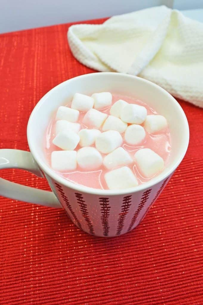 Cupids cocoa with marshmallows