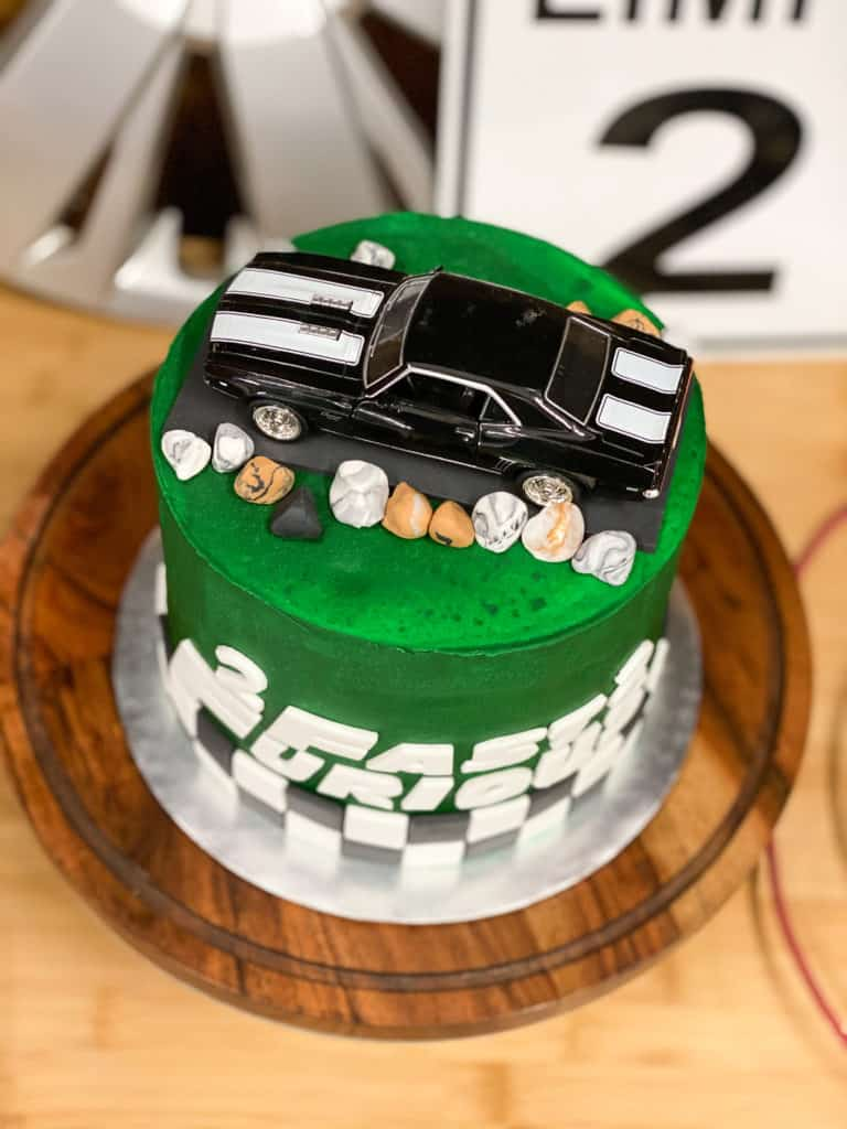 2 Fast 2 Furious Birthday Party Car Cake