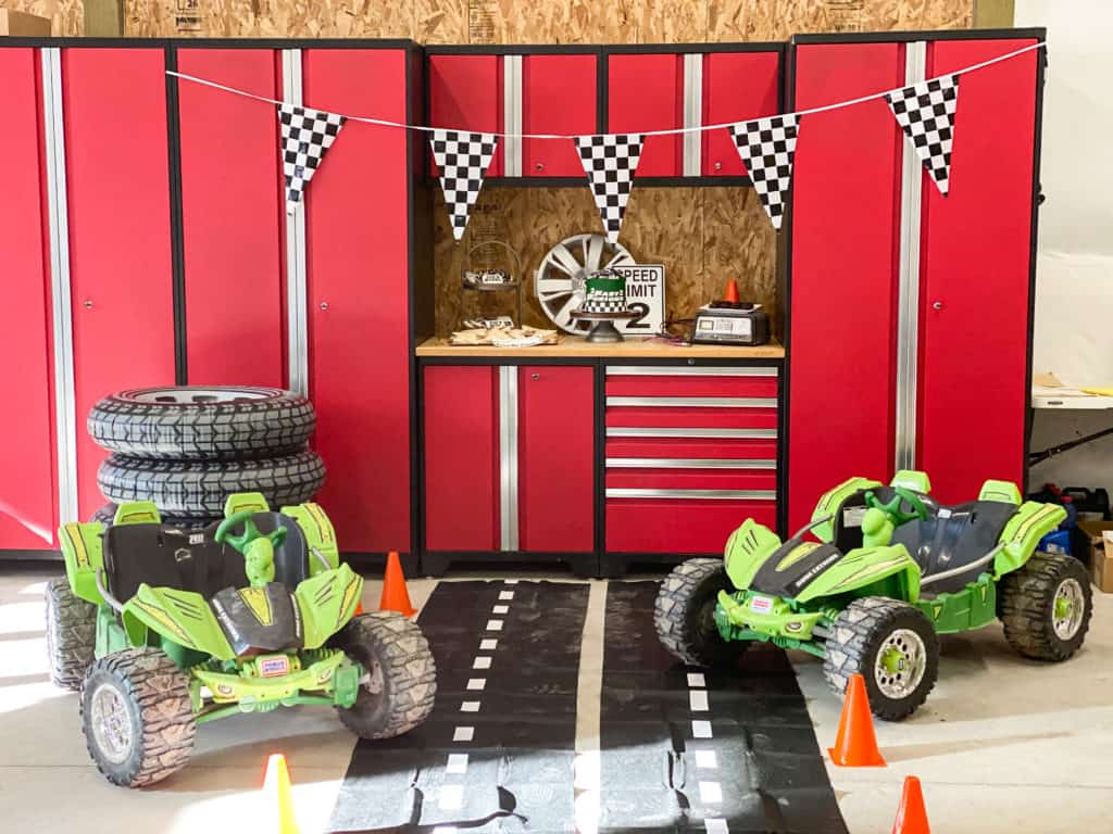 2 Fast 2 Furious Birthday Party Decorations and set up