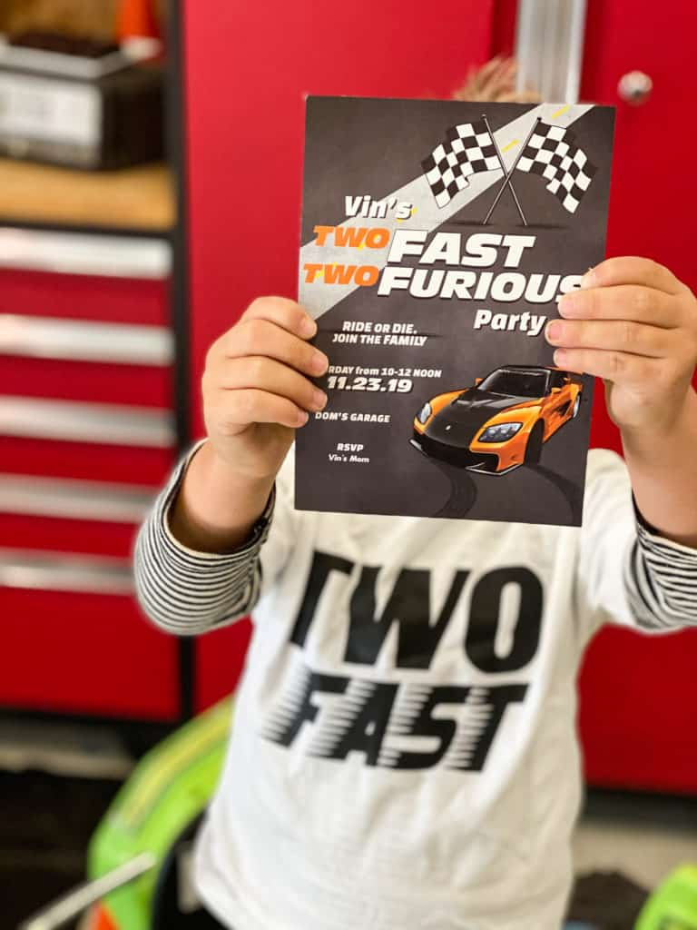 2 Fast 2 Furious Birthday Party invitation